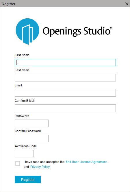 User Registration   Openings Studio Knowledge Base